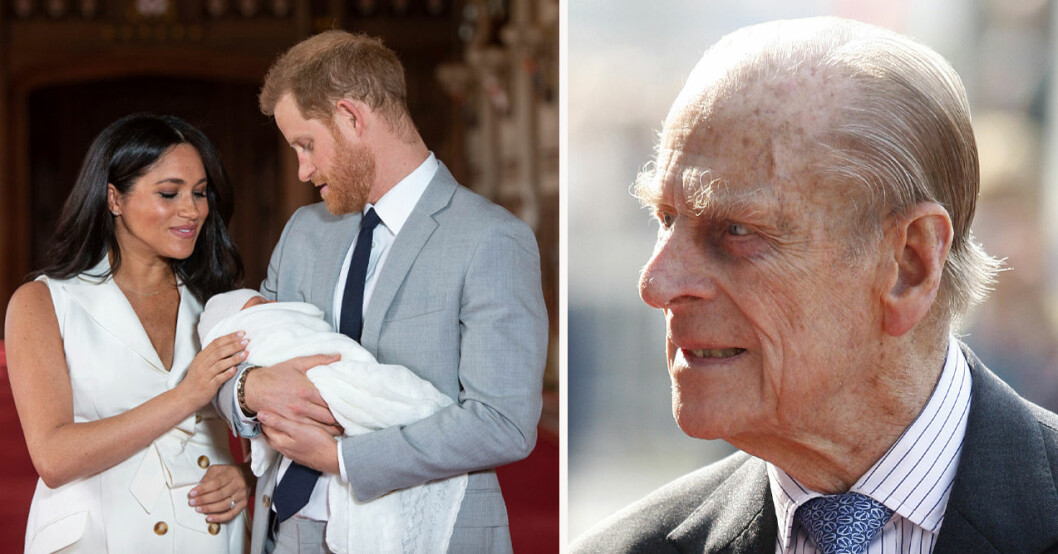 Meghan Markle, Archie, prins Harry och prins Philip