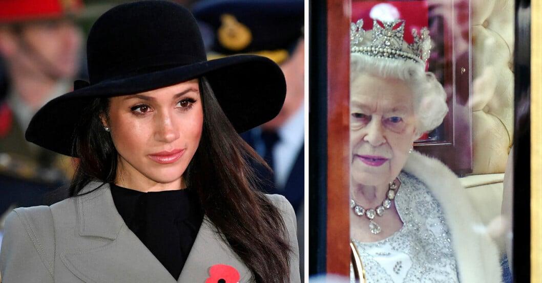 Meghan Markle och drottning Elizabeth