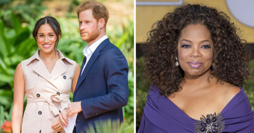 Meghan Markle, prins Harry och Oprah Winfrey
