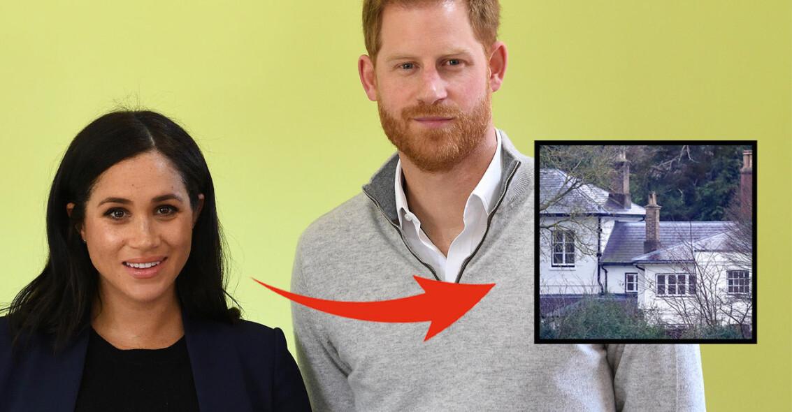 Meghan Markle Prins Harry Frogmore Cottage hus flytt