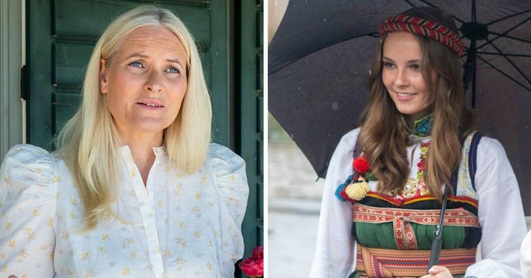 Kronprinsessan Mette-Marit och prinsessan Ingrid Alexandra