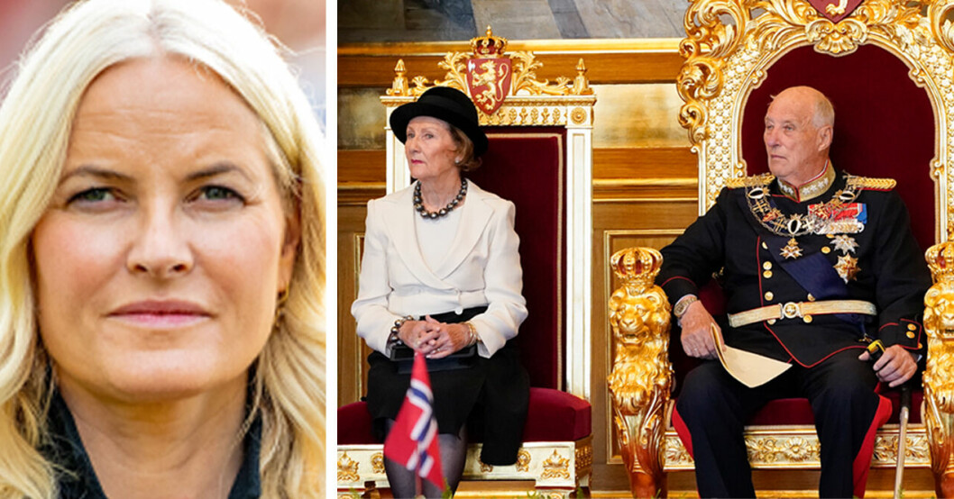 Kronprinsessan Mette-Marit Kung Harald Drottning Sonja