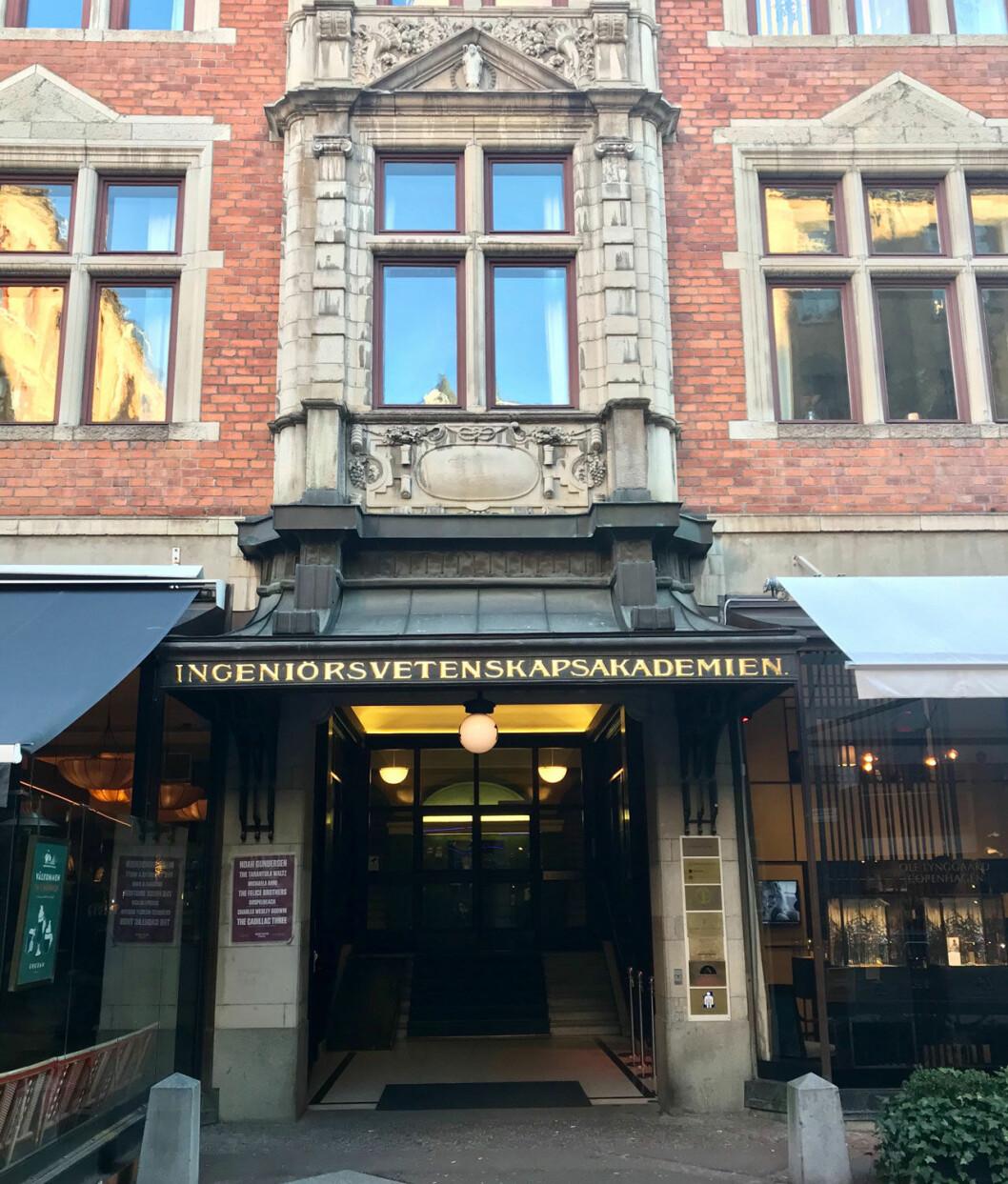 Kungl. Ingenjörsvetenskapsakademien (IVA) på Grev Turegatan i Stockholm