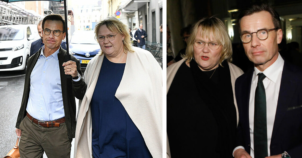 moderaternas ulf kristersson med frun Birgitta