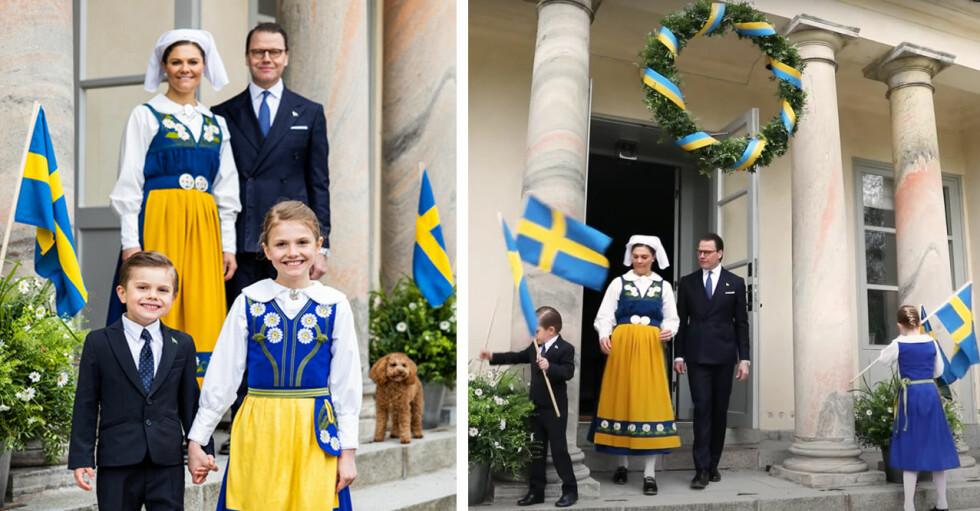 Kronprinsessan Victoria Prins Daniel Prinsessan Estelle Prins Oscar Nationaldagen 2021 Haga slott