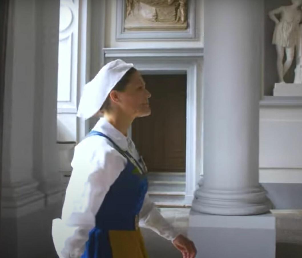 Kronprinsessan Victoria i Östra valvet på Stockholm slott.