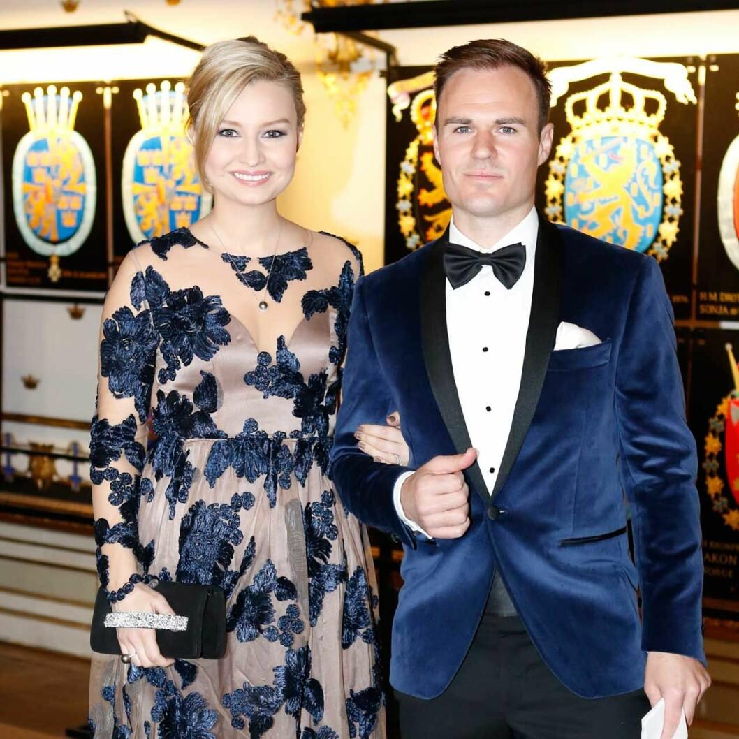 Ebba och Niklas Busch Thor på kungens 70-årsfest 2016.
