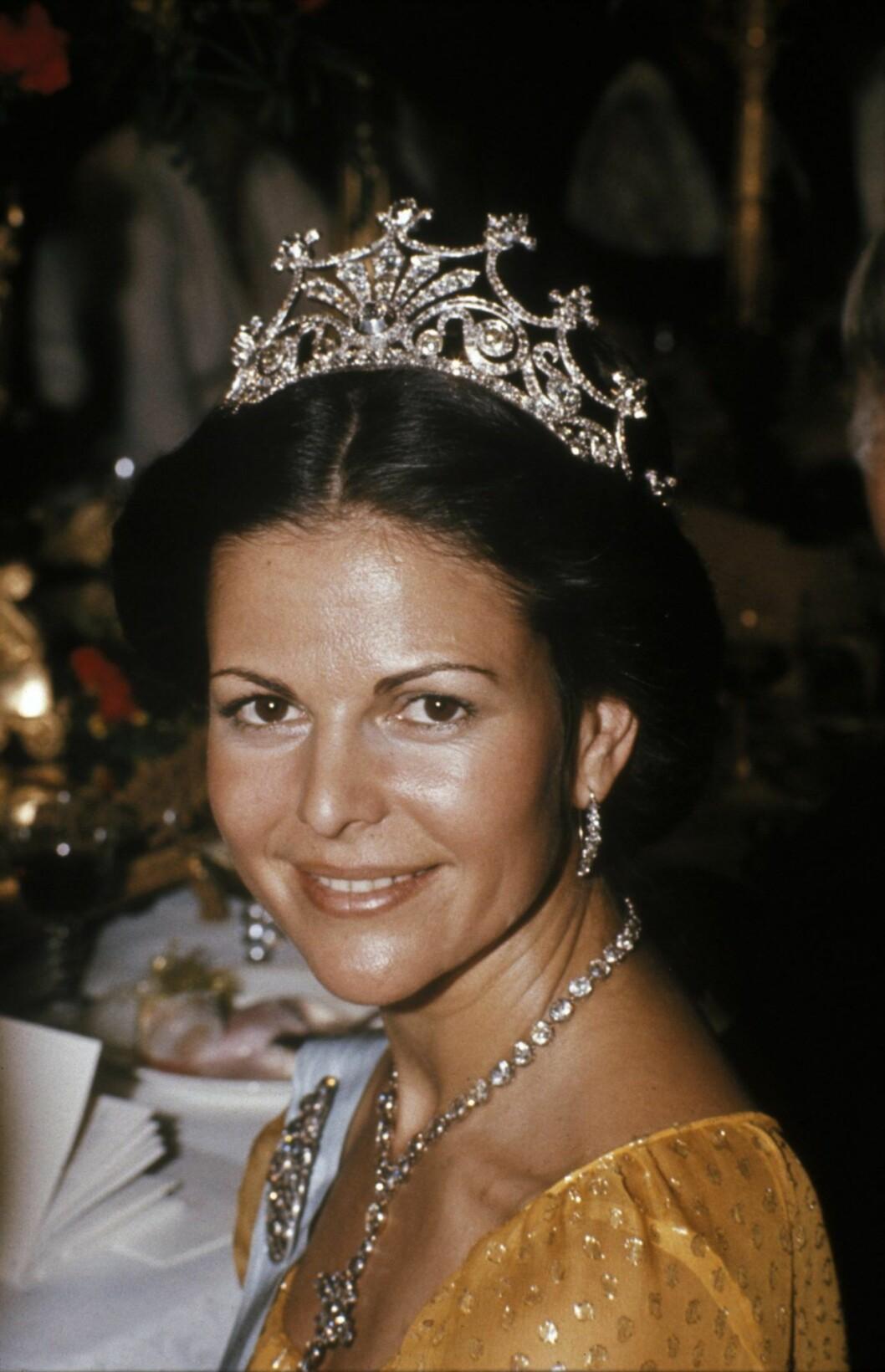 Silvia på Nobel 1976
