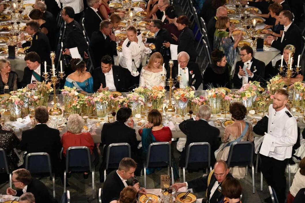 Honnörsbordet under Nobel 2019.