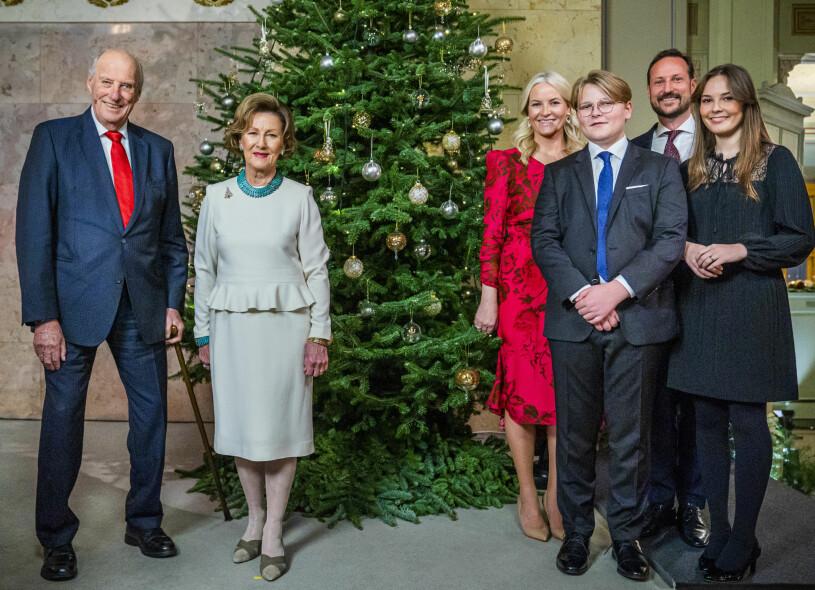 Norska kungafamiljen Julen 2020