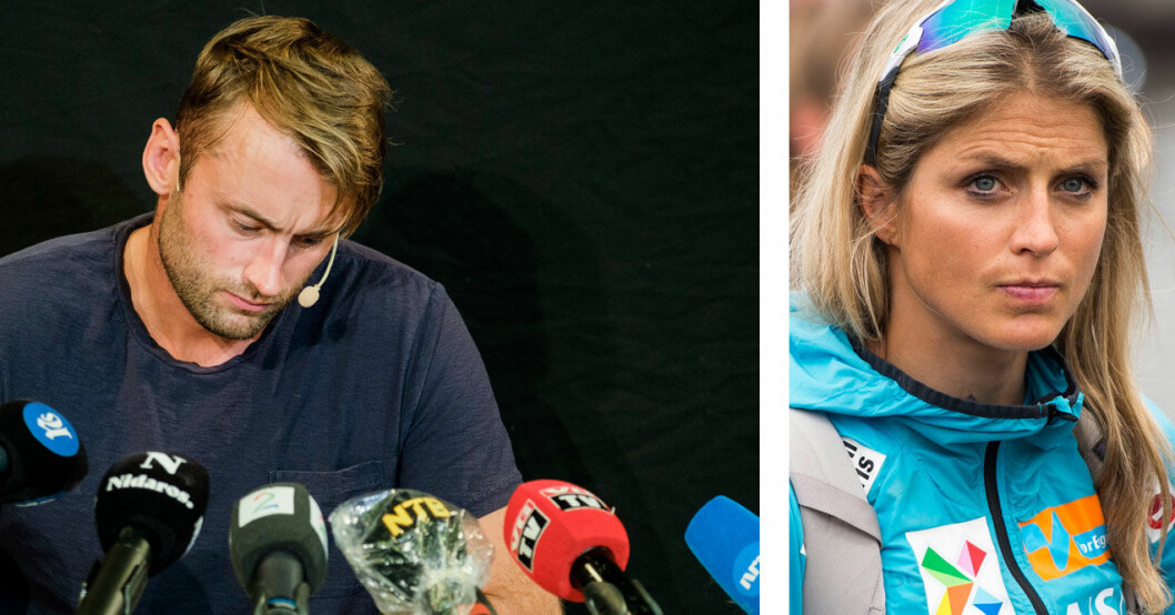 Petter Northug och Therese Johaug – två idrottsgiganter.