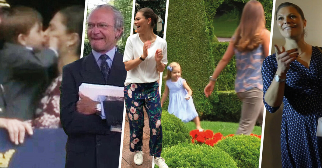 okända videoklipp på kungen och kronprinsessan Victoria
