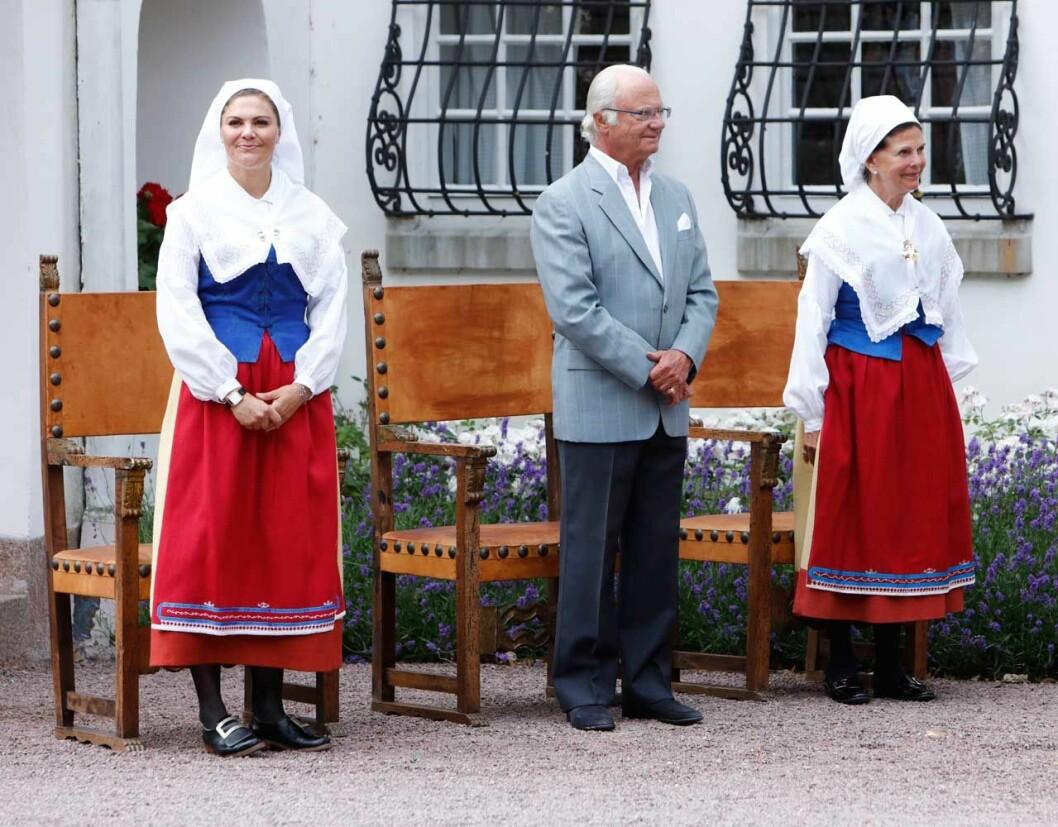Kungafamiljen på Solliden i samband med ceremonin för Årets ölänning 2019.