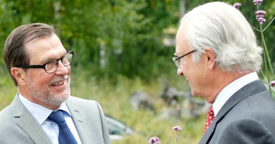 kung Carl Gustaf och prins Daniels pappa Olle Westling