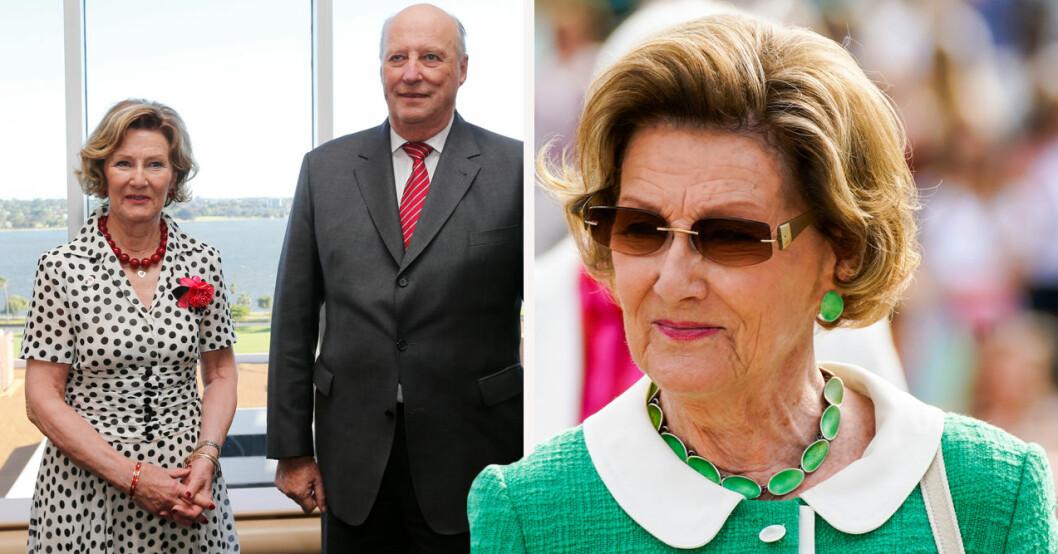 Stor oro i Norge efter bilden på drottning Sonja ensam utan kung Harald