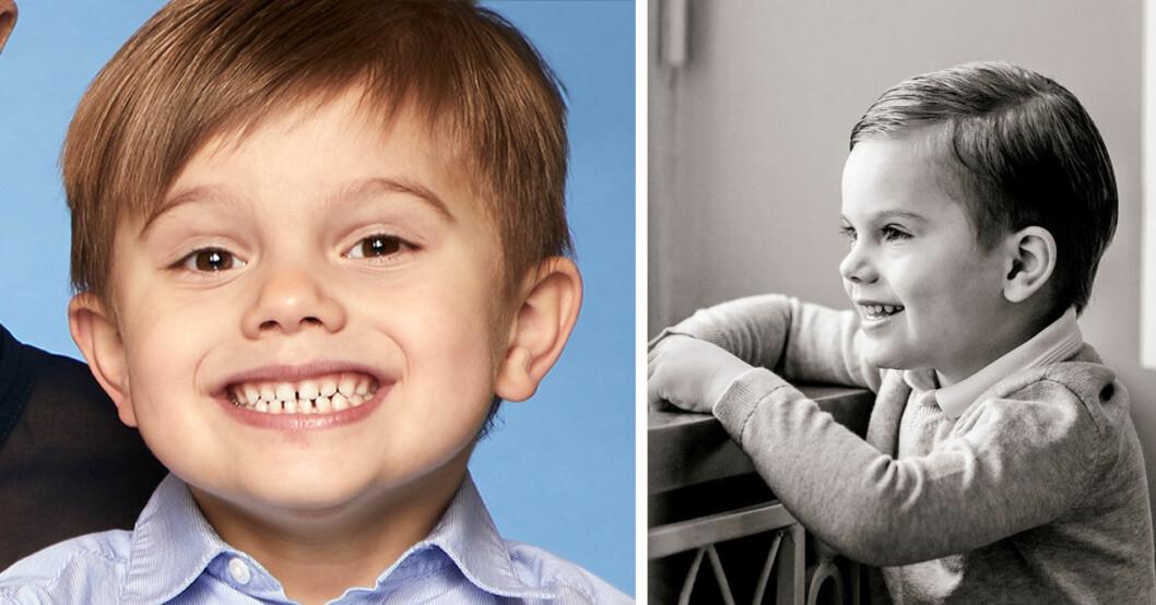 Prins Oscar fyra år. Födelsedagsbilden 2020.