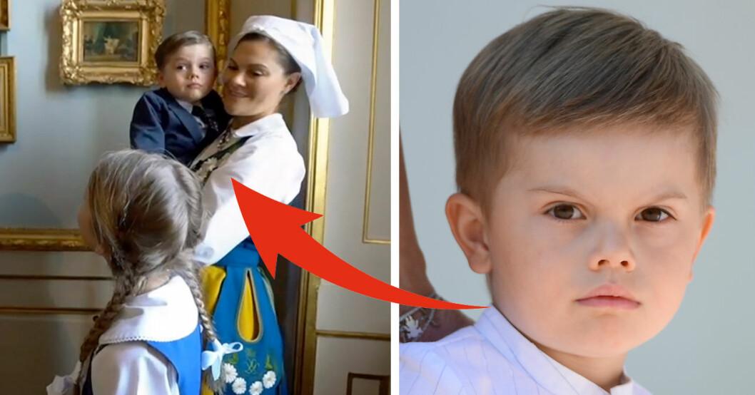 prins oscars kommentar till mamma Victoria