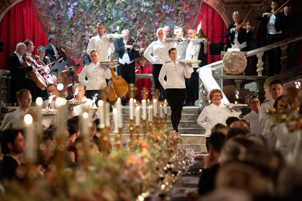 Dessertparaden under Nobelfesten 2019.