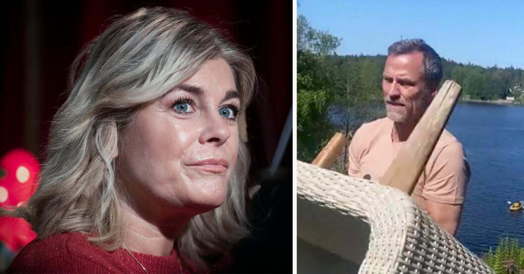 Pernilla Wahlgren och Christian Bauer