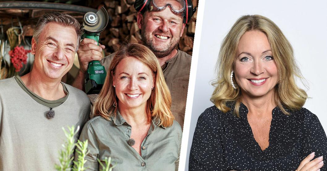 Tareq Taylor, Pernilla Månsson Colt och John Taylor i Trädgårdstider.