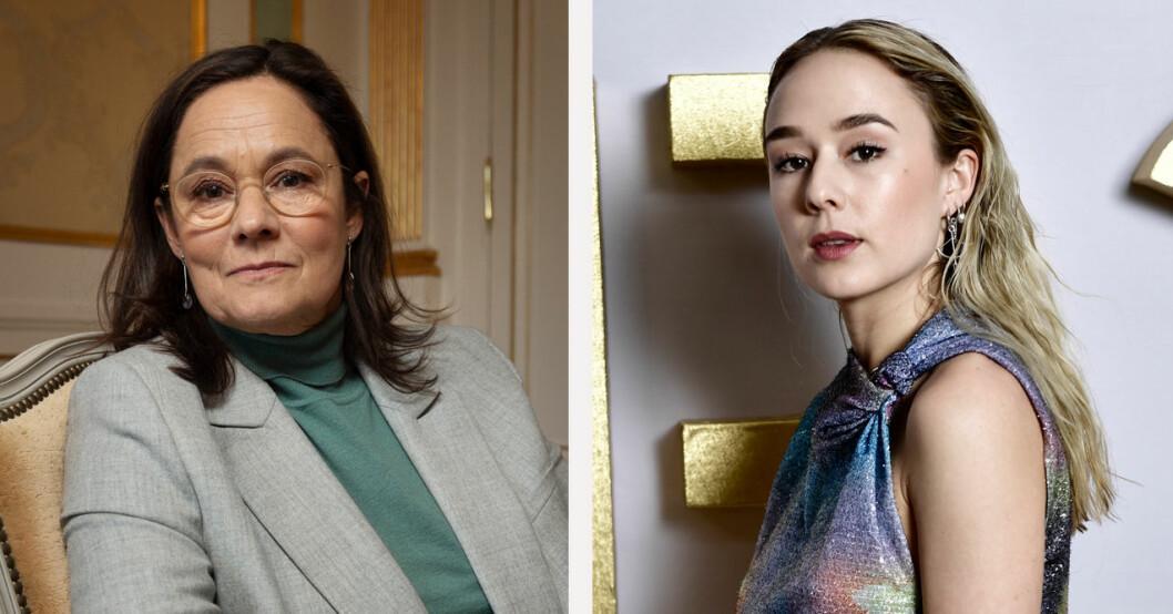 Pernilla August och Alba August