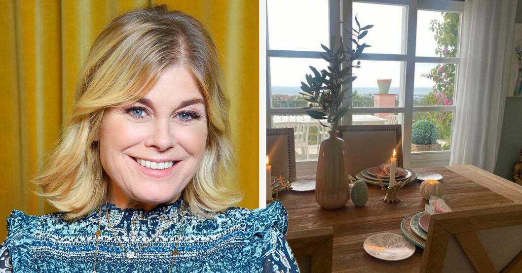 Pernilla Wahlgren visar upp nya kärleken för första gången. Bilder från huset i Spanien