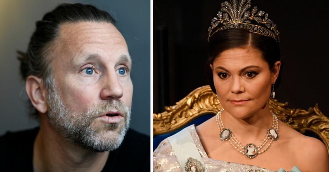 Peter Jihde och kronprinsessan Victoria