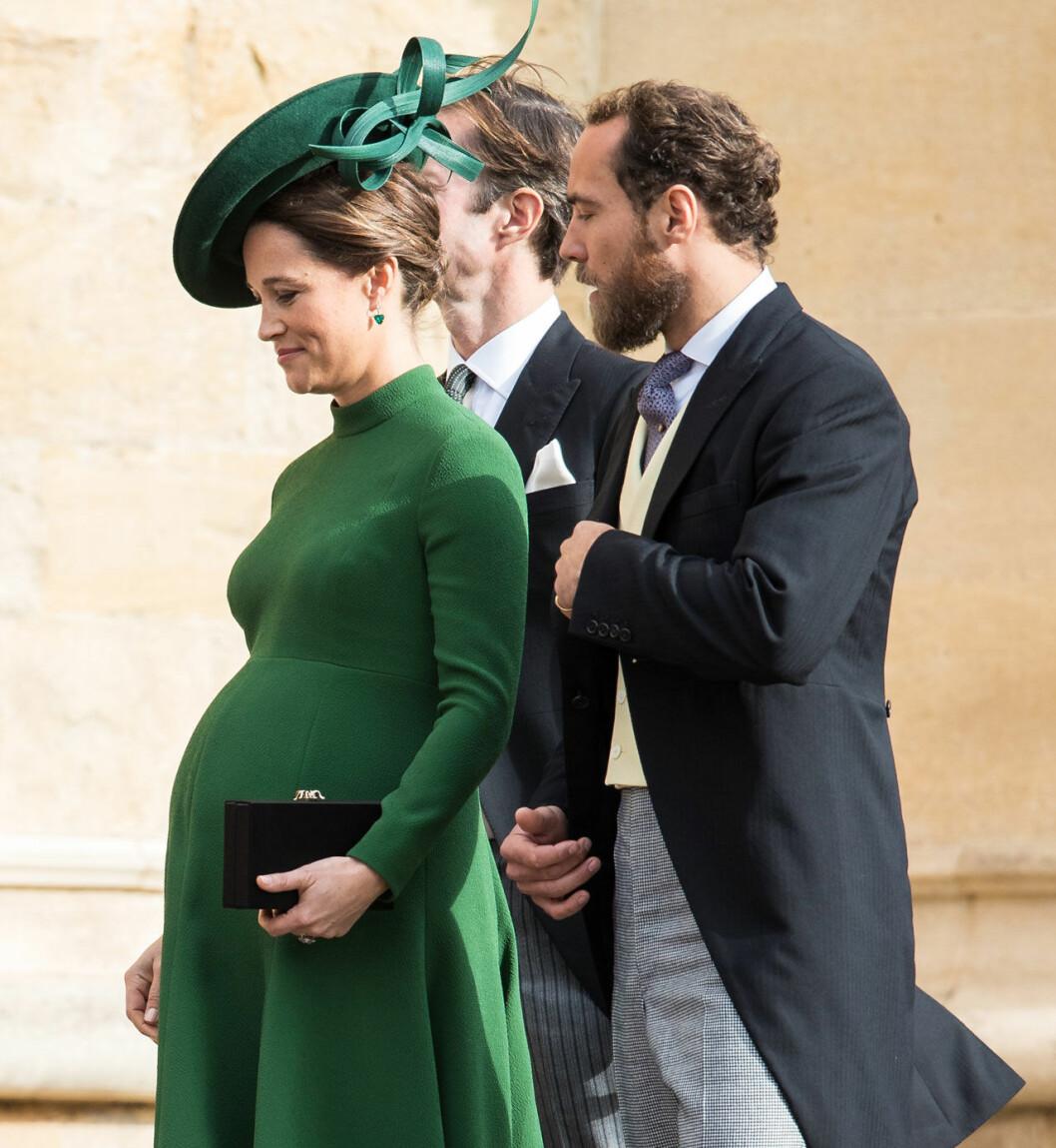 I fredags var höggravida Pippa Middleton och hennes man James på kungligt bröllop. Idag har paret fått sitt första barn.