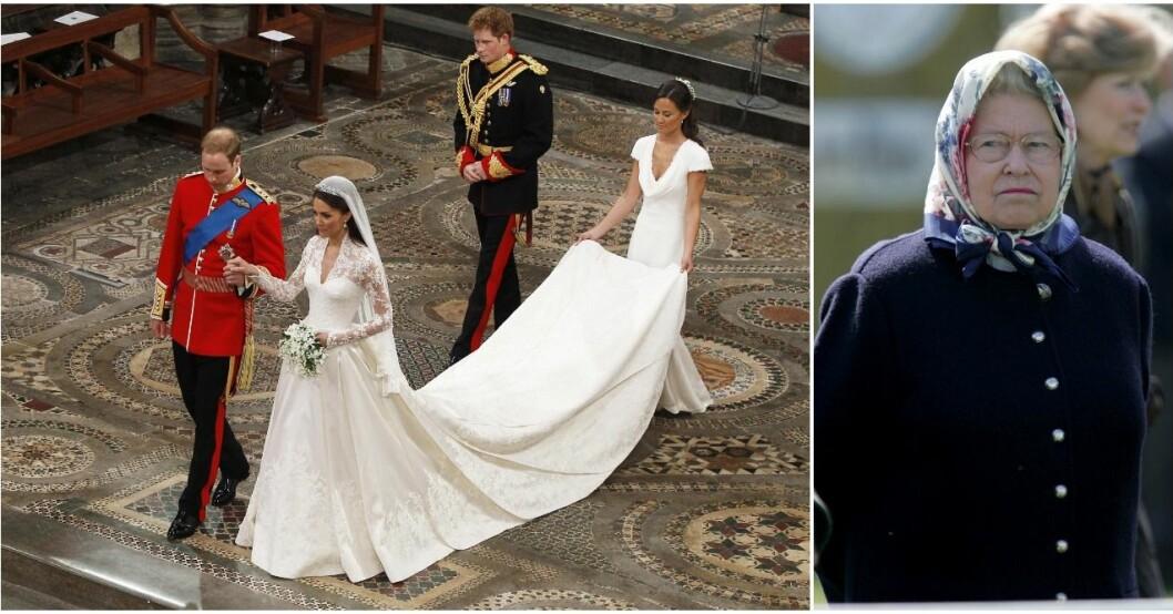 Elizabeths ord på bröllopet har avslöjats.