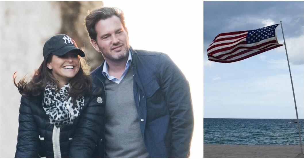 Madeleine och Chris lägger ut en bild från Florida.