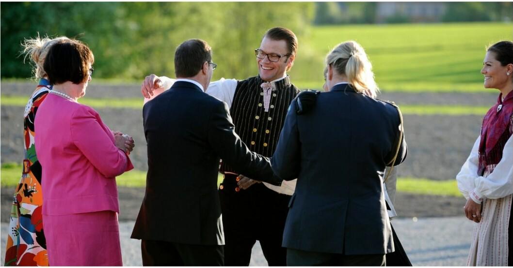 Prins Daniels gest för sin pappa Olle Westling.
