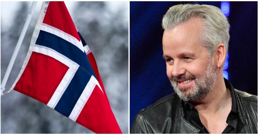 Flaggorna hissades på halv stång för Ari Behn.
