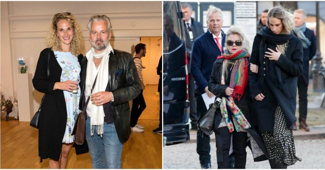 Ari Behns flickvän Ebba Rysst Heilmann anländer till domkyrkan.