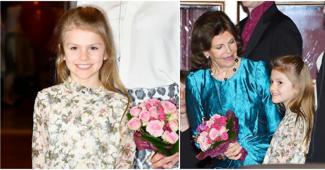 Prinsessan Estelle bar en klänning av en fransk lyxdesigner.
