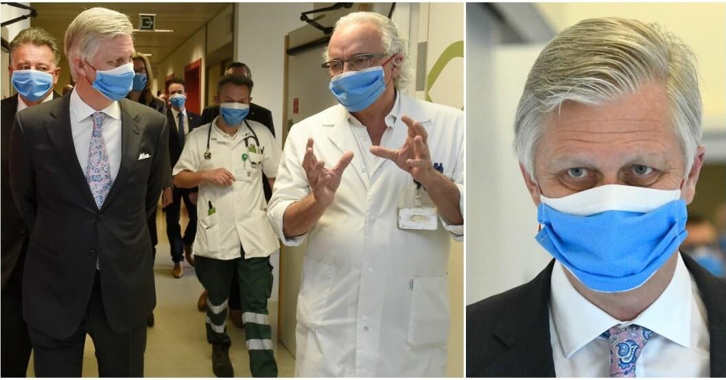 Kung Philippe av Belgien besökte ett sjukhus.