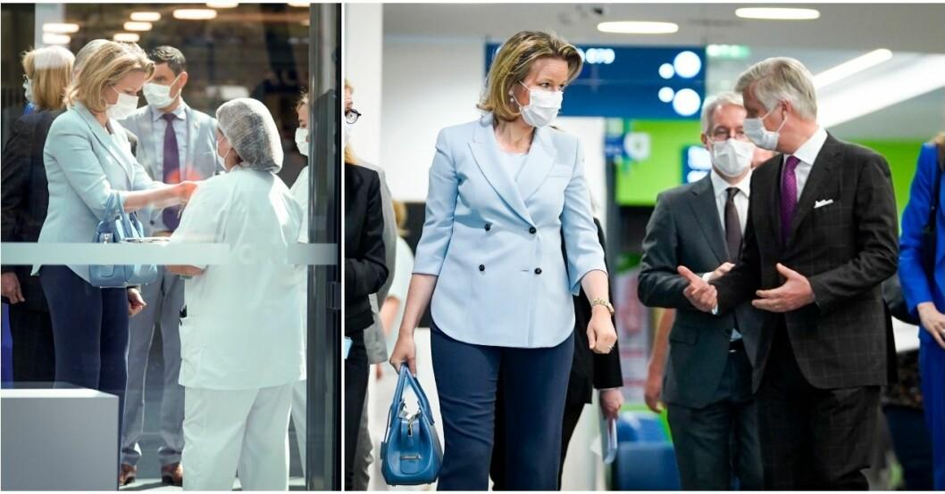Drottning Mathilde besökte ett sjukhus.