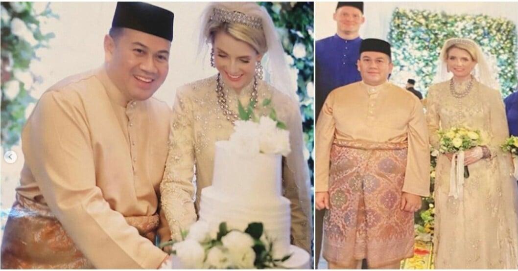 Sofie Louise av Malaysia firar bröllopsdag.