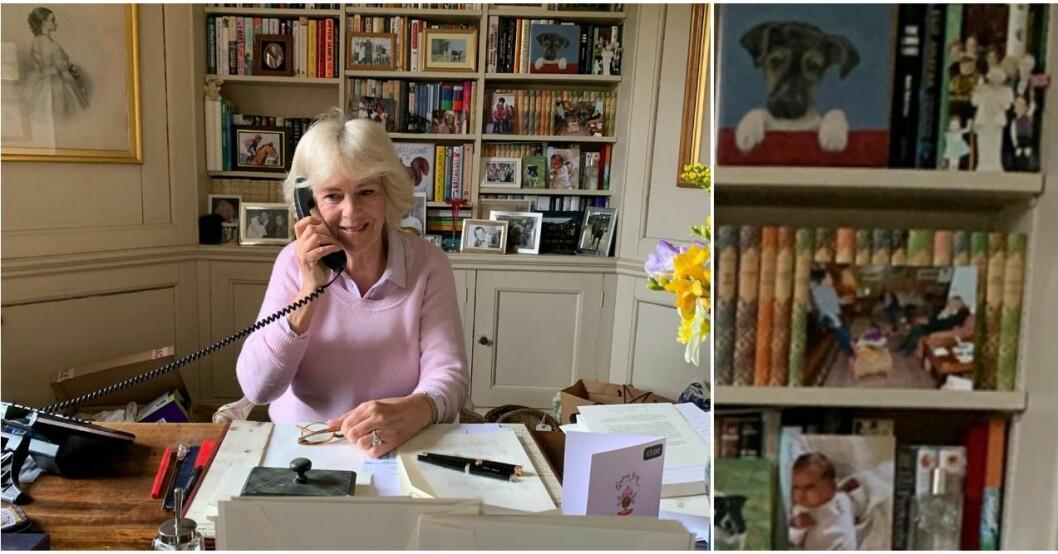 Hertiginnan Camillas kontor.