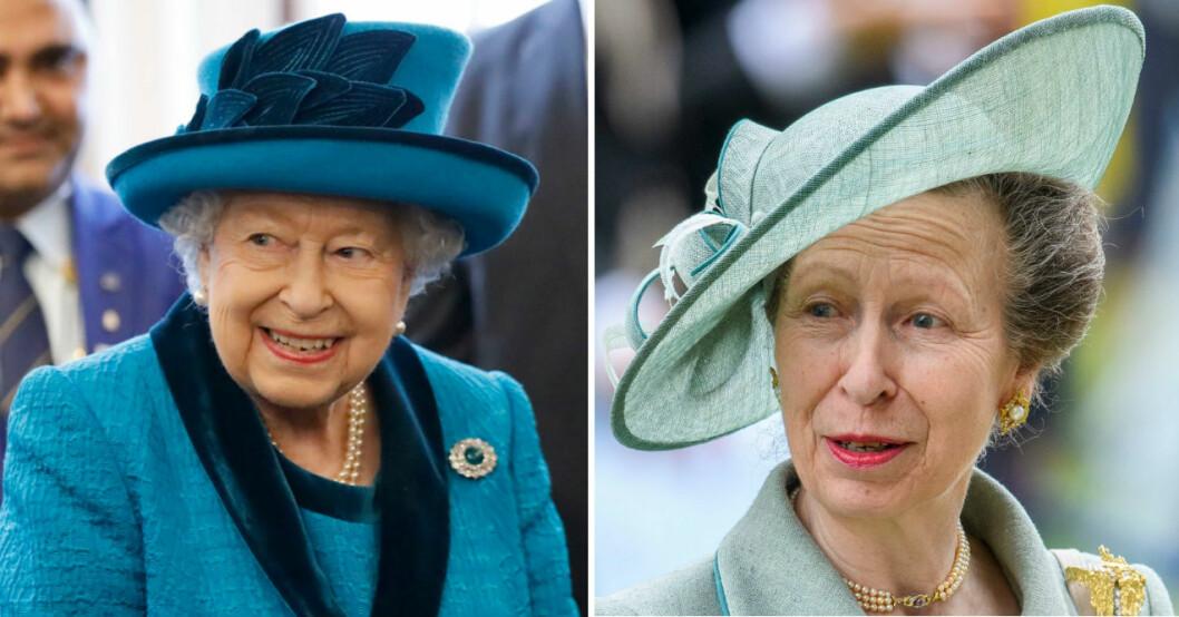 Drottning Elizabeth och Prinsessan Anne