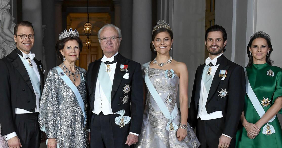 Prins Daniel Drottning Silvia Kungen Kronprinsessan Victoria Prins Carl Philip Prinsessan Sofia