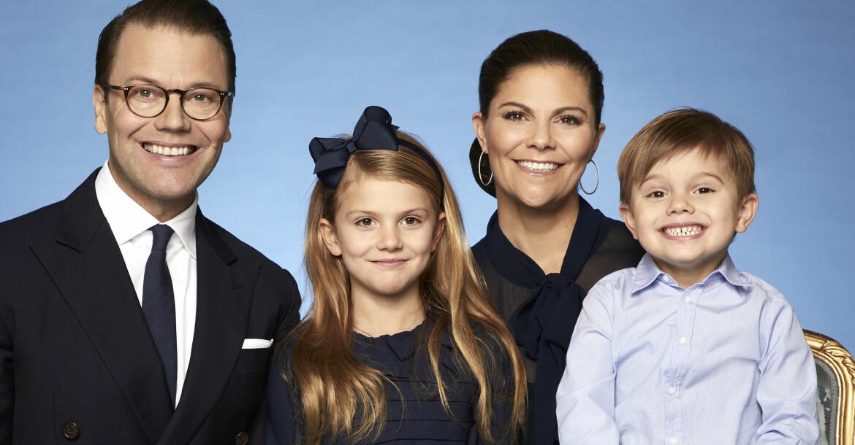 Prins Daniel Kronprinsessan Victoria Prinsessan Estelle Prins Oscar