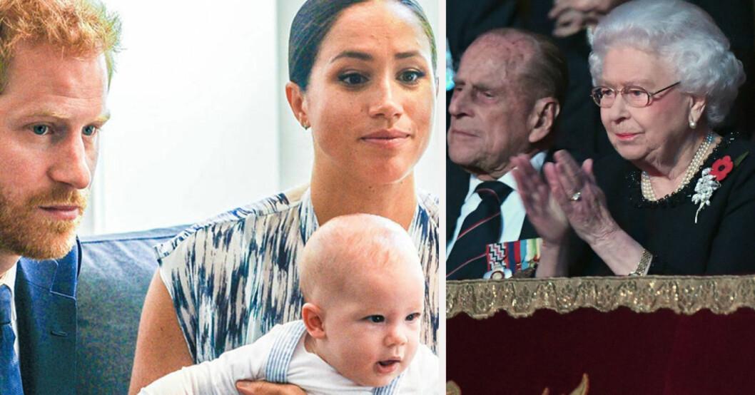 Prins Harry, Meghan Markle, prins Philip, drottning Elizabeth