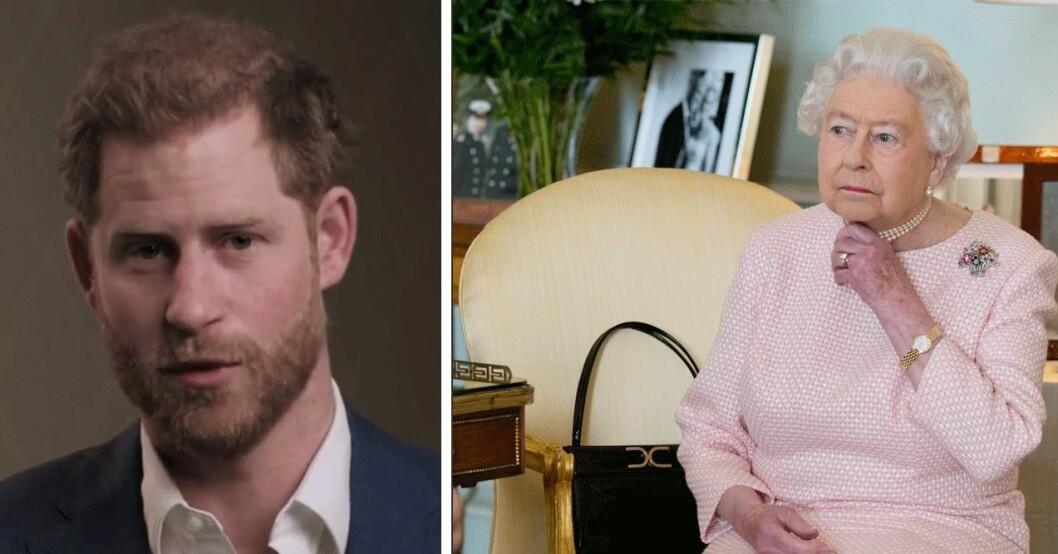 Prins Harry och drottning Elizabeth
