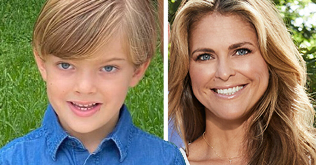 Prins Nicolas och prinsessan Madeleine-