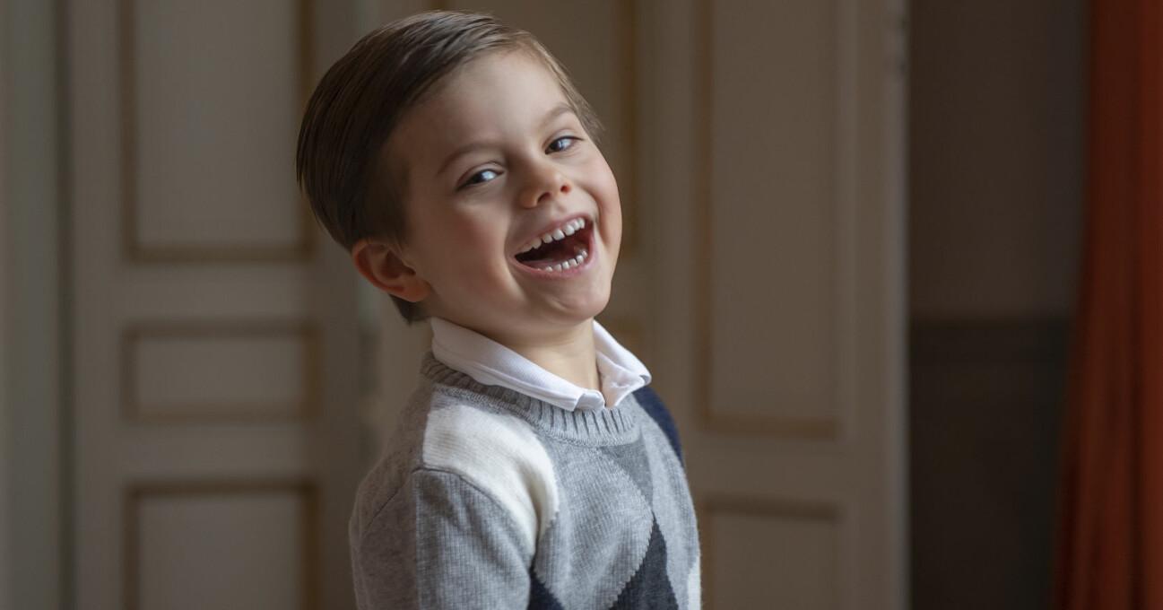 prins oscar 5 år nya bilder på födelsedagen