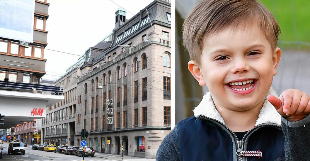 Prins Oscar och Hamngatan i Stockholm