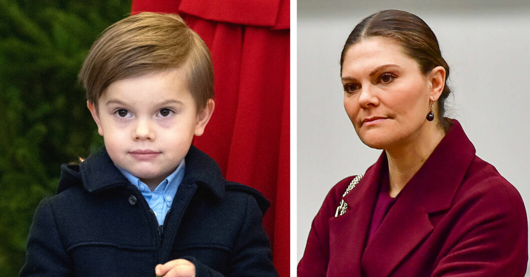 Prins Oscar och kronprinsessan Victoria
