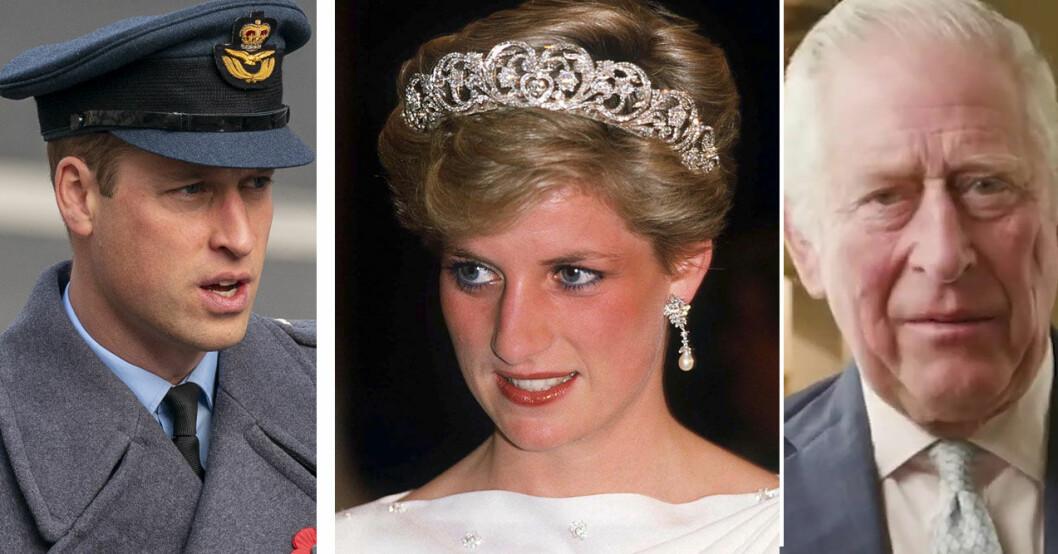 Prins William, prinsessan Diana och prins Charles