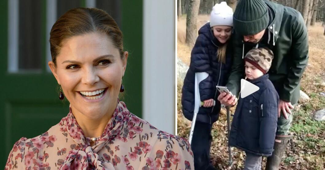 kronprinsessan victorias gulliga film på barnen