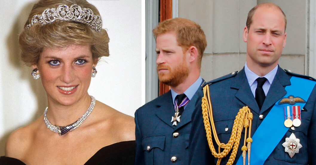 Prinsessan Diana Prins Harry Prins William